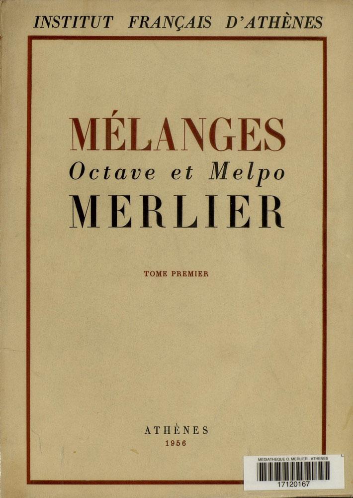 melanges merlier 1 - 1956
